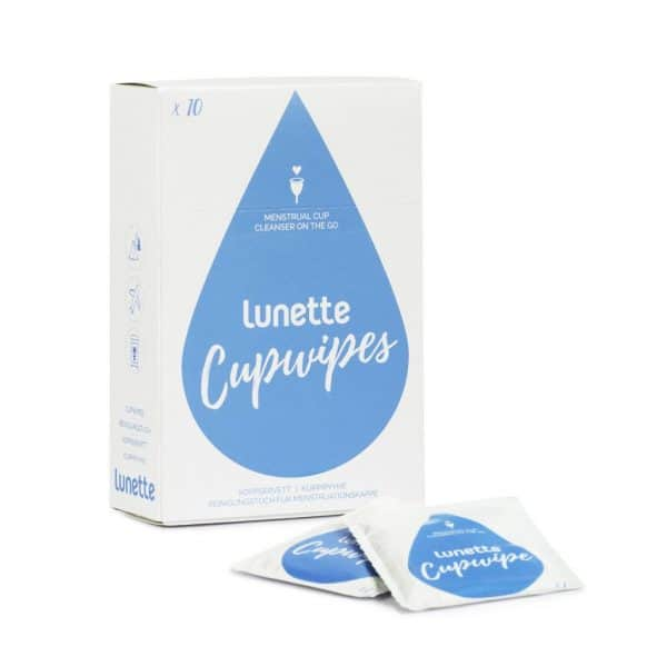 Lunette cup wipes pack