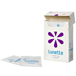 Lunette sanitising cup wipes