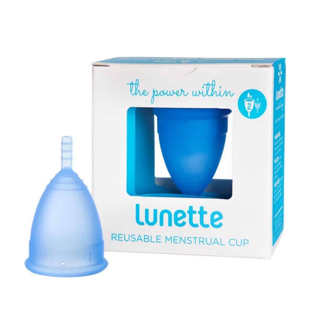 Blue Lunette menstrual cup