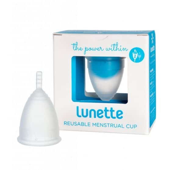 Clear Lunette menstrual cup