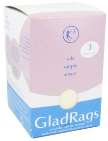 GladRags undyed organic day pad 3 pack