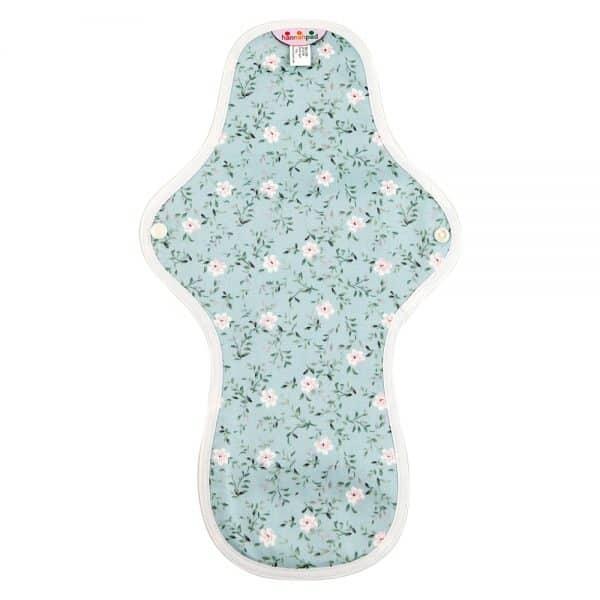 Hannahpad Large:Overnight Organic cotton pad Edelweiss Blue