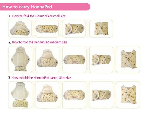 How to fold your Hannahpads
