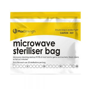 MaxStrength steriliser bag for menstrual cups