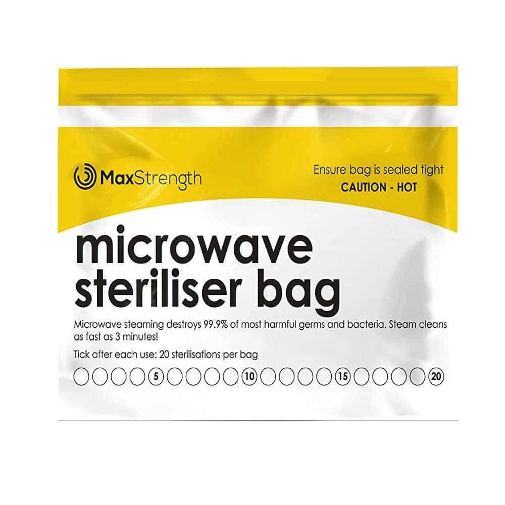 MaxStrength steriliser bag for menstrual cups
