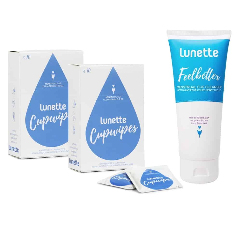 section spéciale style le plus récent produits de qualité Lunette Cupwipes & Cup Cleanser bundle