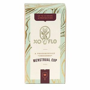 XO Flo menstrual cup packaging by Gladrags